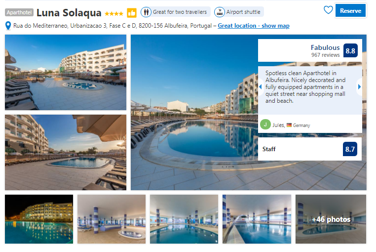 Flights from Cork or Dublin to Faro and 4 nights in a 4